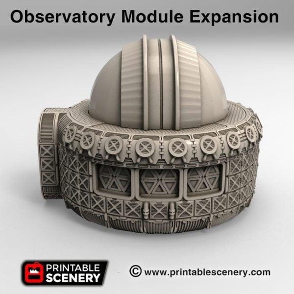 3d Printable sci-fi 40k infinity Moonbase observatory