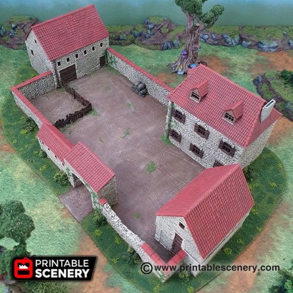 3d printable ww2 napolionic french farmhouse