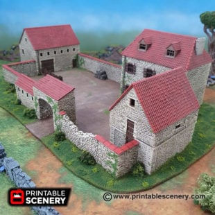 3d printable ww2 napolionic french farmhouse