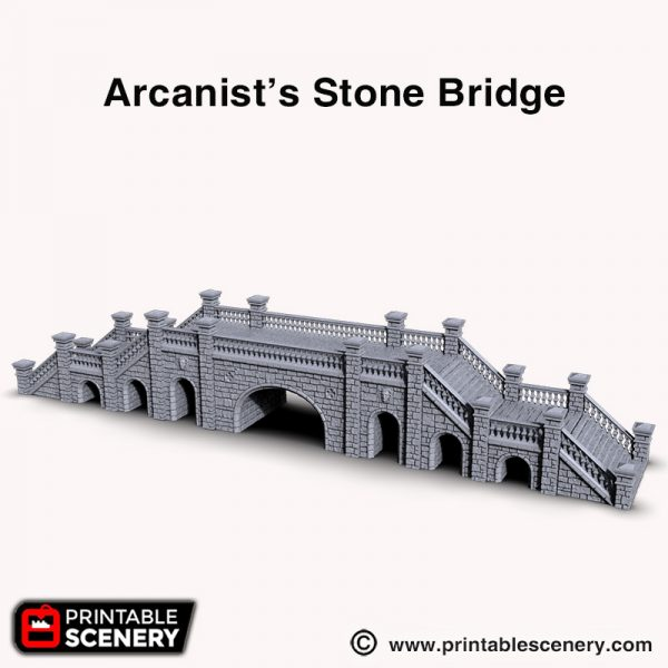 Arcanists 3d printed Stone bridge