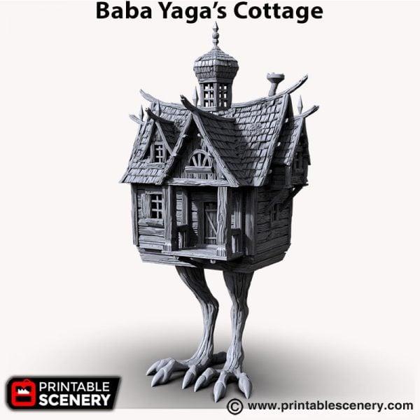 Baba yaga cottage 3d printed