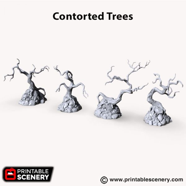 Shadowfey Contorted Trees 3d printed