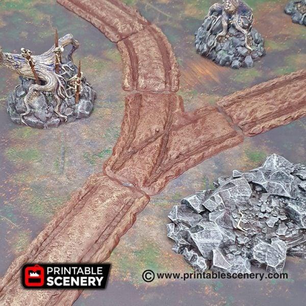 Shadowfey Wilds Forest Cart Tracks Frostgrave Mordheim Age of Sigmar Warhammer Skirmish