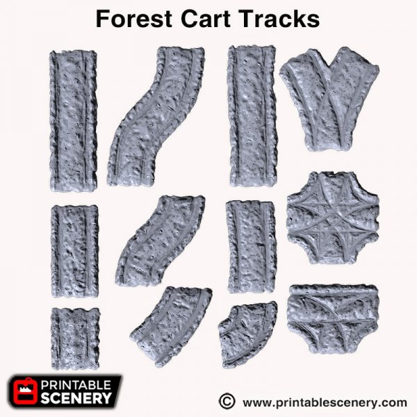 Shadowfey 3d print forest cart tracks