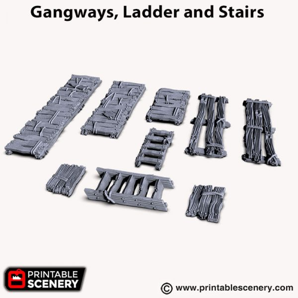Gangways, Ladder and Stairs 3d print ruins Shadowfey