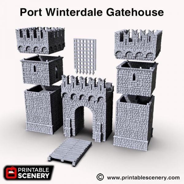 Port Winterdale 3d print gatehouse