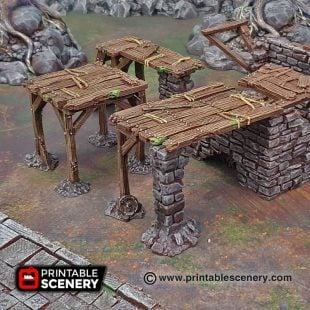 3D printed supports and scaffolding Warhammer Dungeons and Dragons Frostgrave mordheim