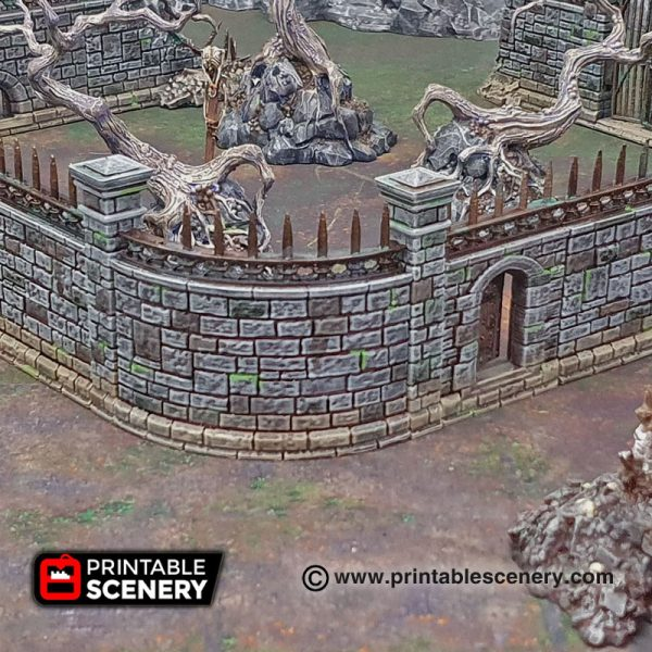 3D printed Arcanist's Stone Walls Warhammer Dungeons and Dragons Frostgrave