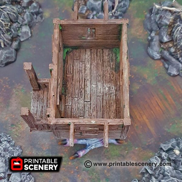 3D printed baba yagas cottage Warhammer Dungeons and Dragons Frostgrave mordheim
