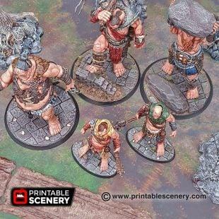 3d Printable Wargaming Bases Dungeons and Dragons Warhammer, mordheimm frostgrave Kings of War