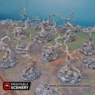 Shadowfey Wilds Contorted trees Frostgrave Mordheim Age of Sigmar Warhammer Skirmish