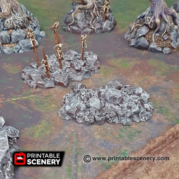 Shadowfey Wilds Jagged rocks Frostgrave Mordheim Age of Sigmar Warhammer Skirmish