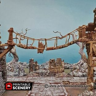 Shadowfey Ruins Rope Bridge Frostgrave Mordheim Age of Sigmar Warhammer Skirmish