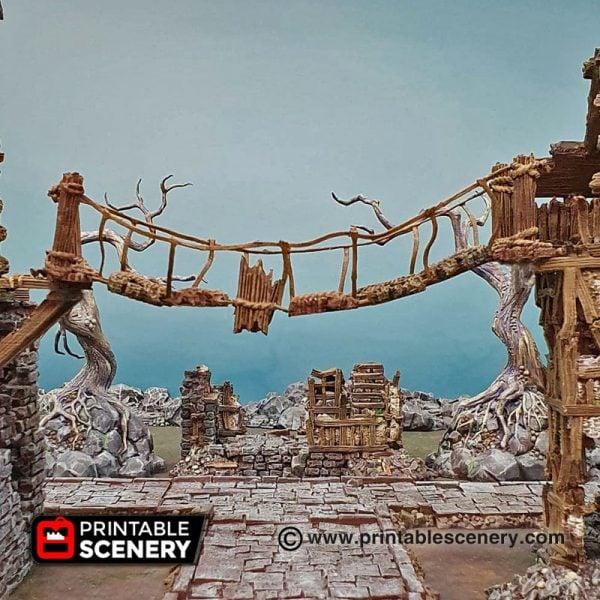 Shadowfey Ruins Rope Bridge Frostgrave Mordheim Age of Sigmar Warhammer Skirmish