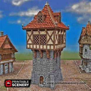 3D printed Winterdale Watchtower Warhammer Dungeons and Dragons Frostgrave
