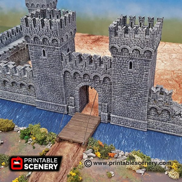 3D printed Port Winterdale Gatehouse Warhammer Dungeons and Dragons Frostgrave