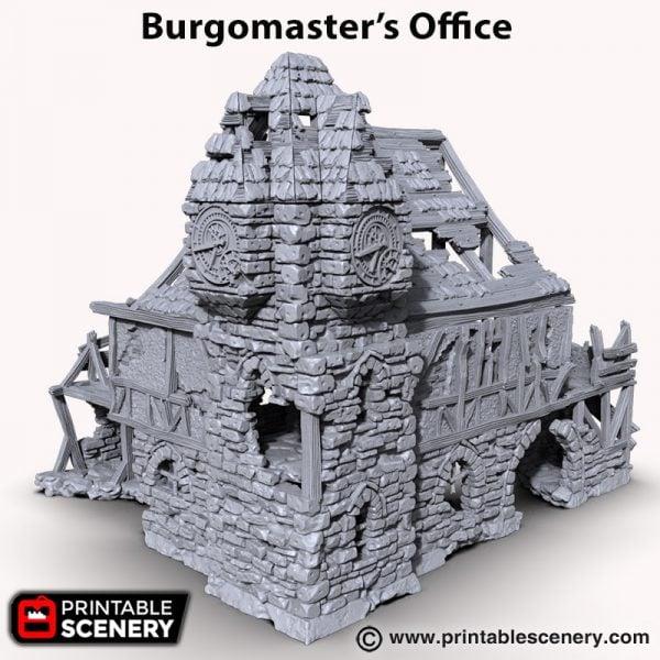 3D printableburgomasters office Warhammer Dungeons and Dragons Frostgrave mordheim