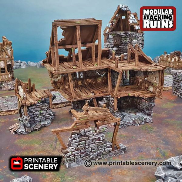 3D printableburgomeisters office Warhammer Dungeons and Dragons Frostgrave mordheim