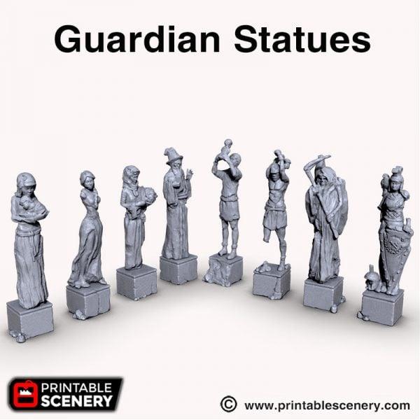 3d printed Guardian Statues Shadowfey