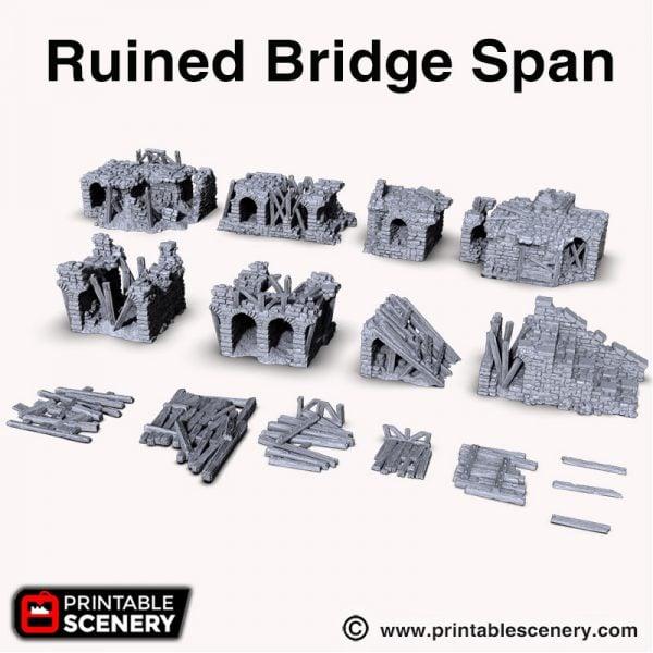 Ruined Bridge Span 3d print Shadowfey