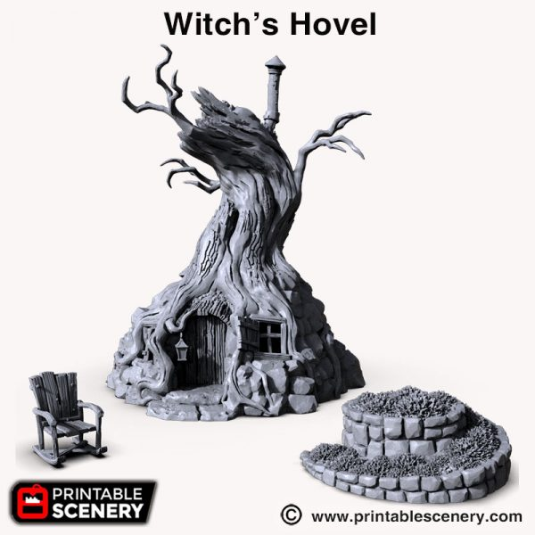 Witch Hovel 3d print