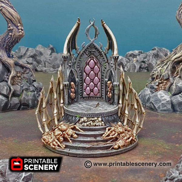 3D printed Shadow Throne Warhammer Dungeons and Dragons Frostgrave mordheim