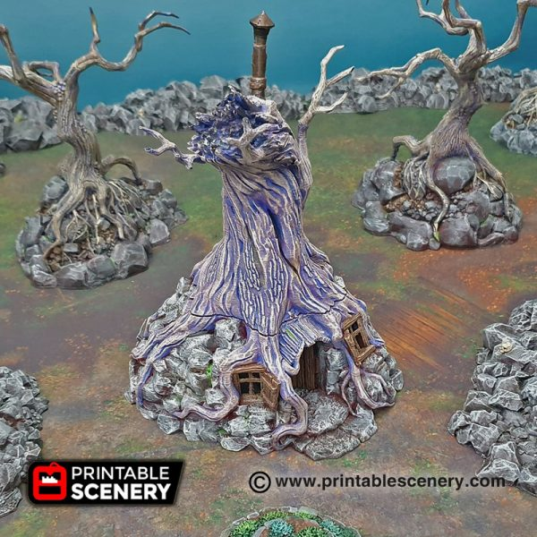 3D printed witchs hovel Warhammer Dungeons and Dragons Frostgrave mordheim
