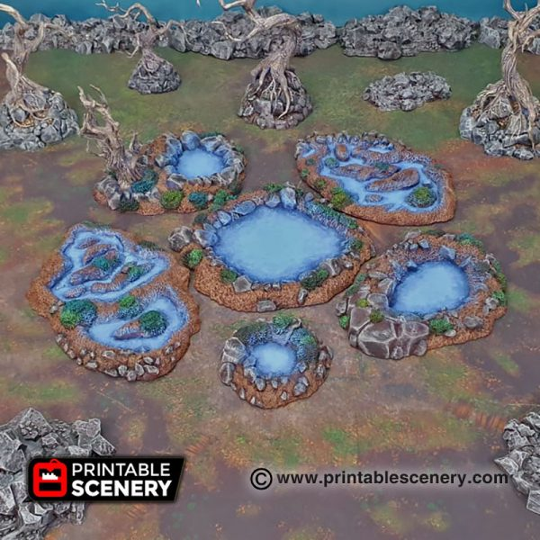 3D Printed Fey Marshes age of sigmar Dungeons and Dragons