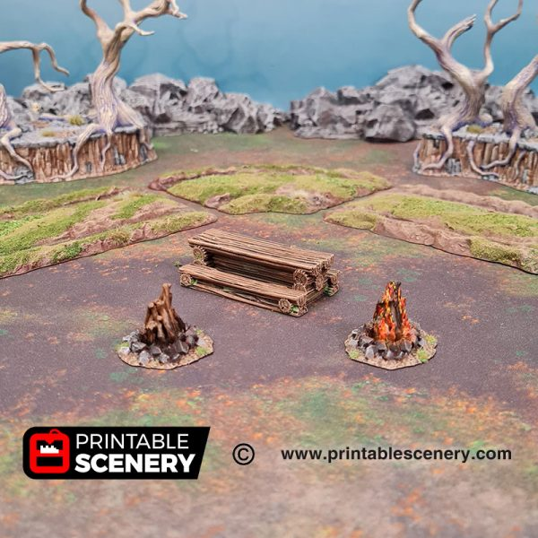 3D Printed Traveler's Camp II Age of Sigmar Dnd Dungeons and Dragons frostgrave mordhiem tabletop games pathfinder blood and plunder lord of the rings