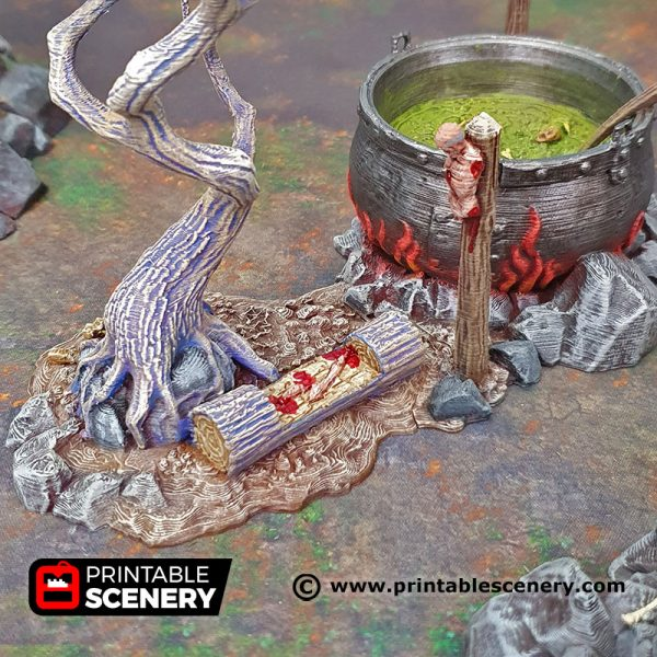 3d Printed Hag's Cauldron Age of Sigmar Dnd Dungeons and Dragons frostgrave mordhiem tabletop games