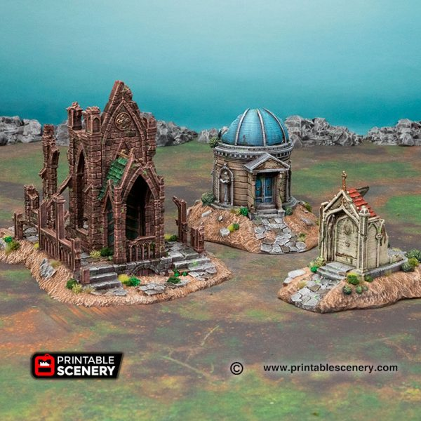 3D Printed Hallowed Mausoleum age of sigmar Dungeons and Dragons mordhiem frostgrave