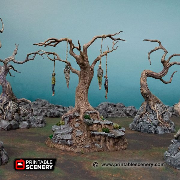 3d Printed Hangman's Tree Age of Sigmar Dnd Dungeons and Dragons frostgrave mordhiem tabletop games