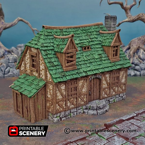 3D Printed Perfectly Normal House Age of Sigmar Dnd Dungeons and Dragons frostgrave mordhiem tabletop games pathfinder