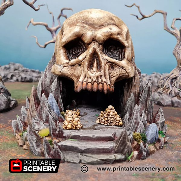 3d Printed Titan Skull Cave Age of Sigmar Dnd Dungeons and Dragons frostgrave mordhiem tabletop games