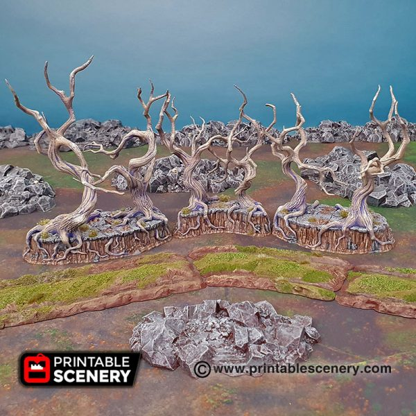 3D printed gloomy gully age of sigmar Dungeons and Dragons mordhiem frostgrave