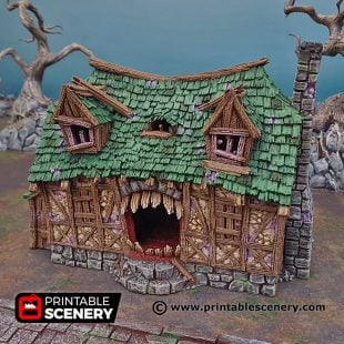 3D Printed Mimic House Age of Sigmar Dnd Dungeons and Dragons frostgrave mordhiem tabletop games pathfinder