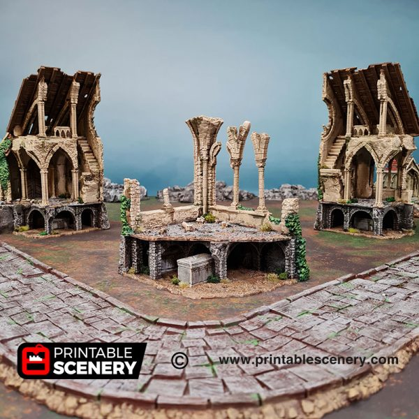 3d Ruined Nave and Chancel Age of Sigmar Dnd Dungeons and Dragons frostgrave mordhiem tabletop games