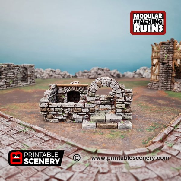 3d Ruined Gatehouse B Age of Sigmar Dnd Dungeons and Dragons frostgrave mordhiem tabletop games