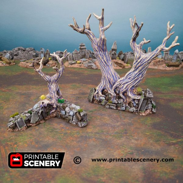 3d Printed Hallowed Graveyard Walls Age of Sigmar Dnd Dungeons and Dragons frostgrave mordheim tabletop games