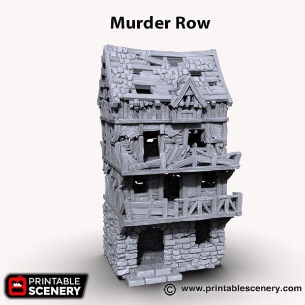3d printed Muder Row ruin terrace house