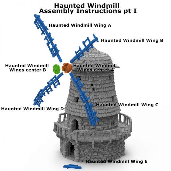 3D Printed Haunted Windmill Age of Sigmar Dnd Dungeons and Dragons frostgrave mordheim tabletop games