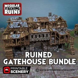 3D Printed Ruined Gatehouse Age of Sigmar Dnd