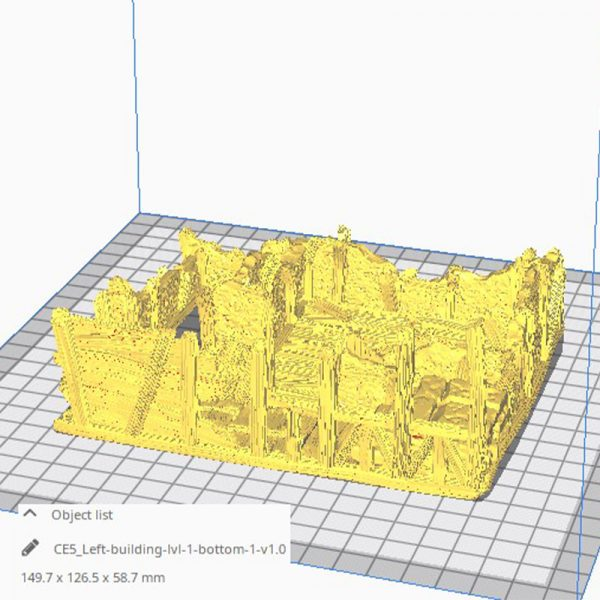 3D Printed Ruined Gatehouse West Wing Age of Sigmar Dnd Dungeons and Dragons frostgrave mordheim tabletop games