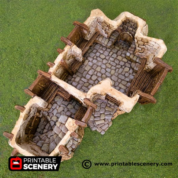 3D Printed Hagglethorn Hollow Longhouse Age of Sigmar Dnd Dungeons and Dragons frostgrave mordheim tabletop games kings of war warhammer 9th age pathfinder rangers of shadowdeep