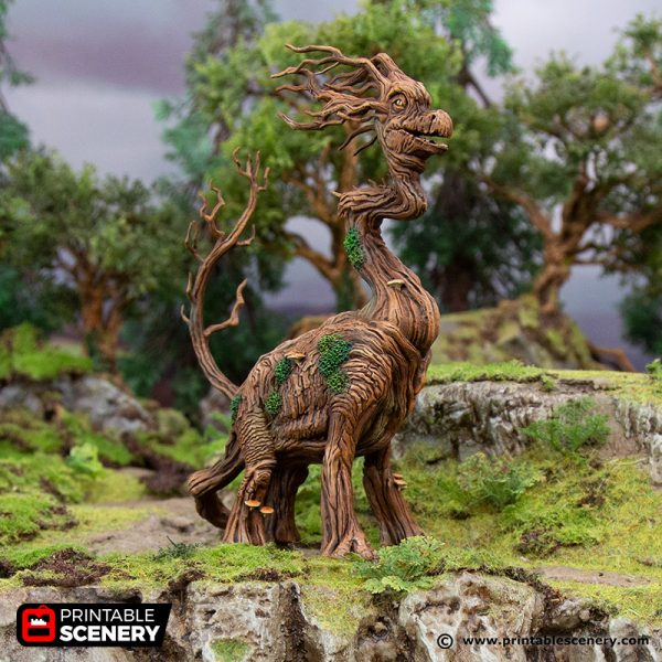 3D Printed Hagglethorn Hollow Brackenosaurus Age of Sigmar Dnd Dungeons and Dragons frostgrave mordheim tabletop games kings of war warhammer 9th age pathfinder rangers of shadowdeep