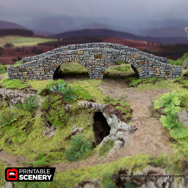 3D Printed Hagglethorn Hollow Bridge Age of Sigmar Dnd Dungeons and Dragons frostgrave mordheim tabletop games kings of war warhammer 9th age pathfinder rangers of shadowdeep