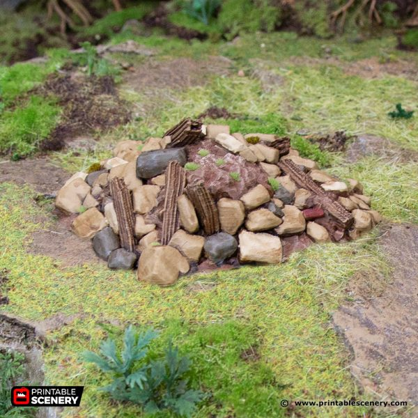 3D Printed Hagglethorn Hollow Debris Piles Age of Sigmar Dnd Dungeons and Dragons frostgrave mordheim tabletop games kings of war warhammer 9th age pathfinder rangers of shadowdeep