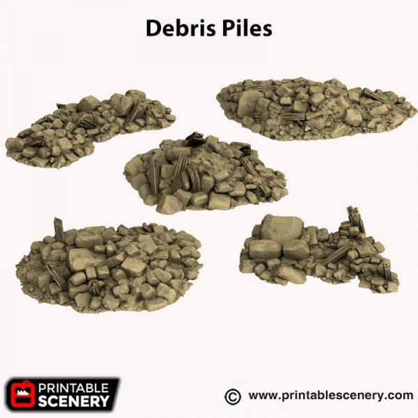 3d printed Debris Piles Hagglethorn Hollow
