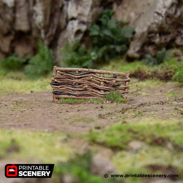 3D Printed Hagglethorn Hollow Garden Fences Age of Sigmar Dnd Dungeons and Dragons frostgrave mordheim tabletop games kings of war warhammer 9th age pathfinder rangers of shadowdeep