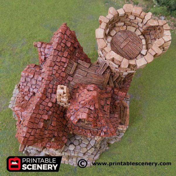 3D Printed Hagglethorn Hollow Guildhall Age of Sigmar Dnd Dungeons and Dragons frostgrave mordheim tabletop games kings of war warhammer 9th age pathfinder rangers of shadowdeep